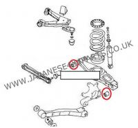 Mitsubishi Pajero/Shogun 3.5 Petrol (V65-SWB / V75-LWB) - Rear Suspension Lower Arm Bush Kit (1 Side)